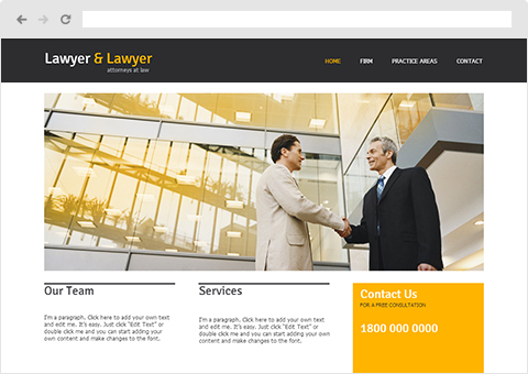 Lawyer & Lawyer | Wix.com Website Templates