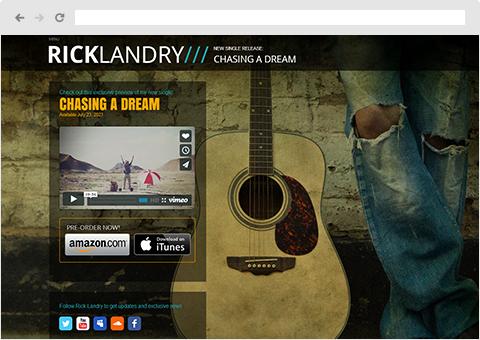 ホームページ テンプレート 音楽 | Wix.com