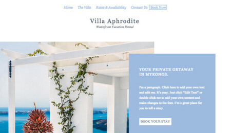 Hotels website templates  | Wix.com