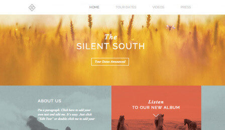 Music website templates  | Wix.com