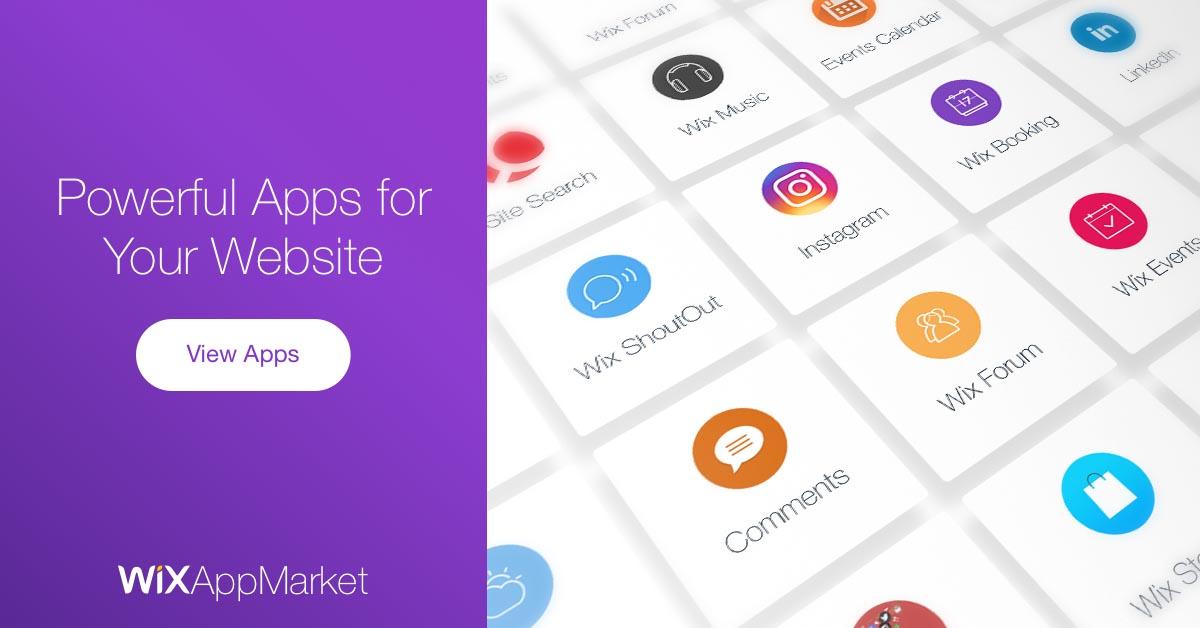 Wix App Market | Amazing web Apps for your site | Wix com