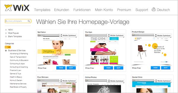 HTML Homepage Vorlagen für Design | Wix